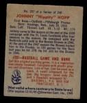 1949 Bowman #207  Johnny Hopp  Back Thumbnail