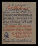 1949 Bowman #129  Billy Johnson  Back Thumbnail