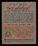 1949 Bowman #140  Rae Scarborough  Back Thumbnail