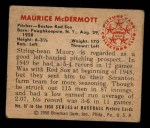 1950 Bowman #97  Mickey McDermott  Back Thumbnail