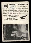 1951 Topps Magic #66  Carroll McDonald  Back Thumbnail