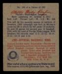 1949 Bowman #144  Milton Haefner  Back Thumbnail