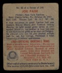 1949 Bowman #82  Joe Page  Back Thumbnail