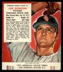 1953 Red Man #15 AL Joe Dobson  Front Thumbnail