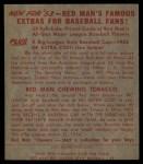 1953 Red Man #23 AL Gil McDougald  Back Thumbnail