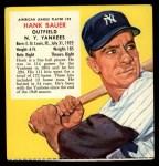 1955 Red Man #22 AL x Hank Bauer  Front Thumbnail