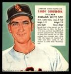 1955 Red Man #25 AL x Sandy Consuegra  Front Thumbnail
