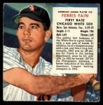 1954 Red Man #22 AL x Ferris Fain  Front Thumbnail
