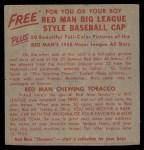 1955 Red Man #23 AL x Chico Carrasquel  Back Thumbnail
