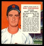 1955 Red Man #10 AL x Bob Porterfield  Front Thumbnail