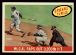 1959 Topps #470   -  Stan Musial Raps Out 3000th Hit Front Thumbnail