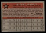1958 Topps #487   -  Mickey Mantle All-Star Back Thumbnail