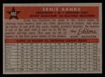 1958 Topps #482   -  Ernie Banks All-Star Back Thumbnail