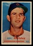 1957 Topps #320  Neil Chrisley  Front Thumbnail