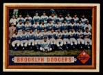 1957 Topps #324   Dodgers Team Front Thumbnail