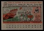 1956 Topps #107  Eddie Mathews  Back Thumbnail