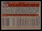 1957 Topps #170  Duke Snider  Back Thumbnail