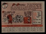 1958 Topps #25  Don Drysdale  Back Thumbnail