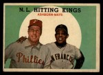 1959 Topps #317   -  Willie Mays / Richie Ashburn NL Hitting Kings Front Thumbnail