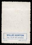 1969 Topps Deckle Edge #9  Willie Horton    Back Thumbnail