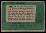 1956 Topps Davy Crockett #80 GRN  Texas Triumph  Back Thumbnail