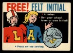 1958 Topps #0   Free Felt Initial Offer Card  Front Thumbnail