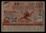 1958 Topps #70 ^WN^ Al Kaline  Back Thumbnail