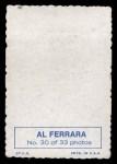 1969 Topps Deckle Edge #30  Al Ferrara    Back Thumbnail