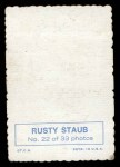 1969 Topps Deckle Edge #22 ^STA^ Rusty Staub     Back Thumbnail