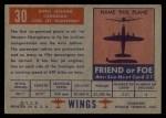 1952 Topps Wings #30   Avro Jetliner Back Thumbnail