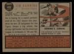 1962 Topps #460  Jim Bunning  Back Thumbnail