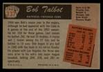 1955 Bowman #137  Bob Talbot  Back Thumbnail