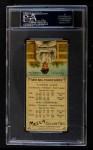 1911 T201 Mecca #28  Fred Falkenberg / Nap Lajoie  Back Thumbnail