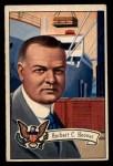 1952 Bowman U.S. Presidents #33  Herbert Hoover  Front Thumbnail