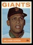 1964 Topps #390  Orlando Cepeda  Front Thumbnail