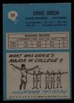 1964 Philadelphia #35  Ernie Green  Back Thumbnail