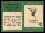 1966 Philadelphia #182   -  Tommy Davis San Francisco 49ers Back Thumbnail