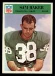 1966 Philadelphia #132  Sam Baker  Front Thumbnail