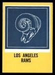 1967 Philadelphia #96   Los Angeles Rams Logo Front Thumbnail