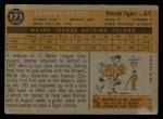 1960 Topps #171  Johnny Groth  Back Thumbnail