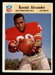 1966 Philadelphia #171  Kermit Alexander  Front Thumbnail