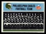 1966 Philadelphia #131   Eagles Team Front Thumbnail