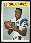 1966 Philadelphia #93  Willie Brown  Front Thumbnail