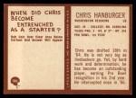 1967 Philadelphia #183  Chris Hanburger  Back Thumbnail