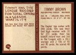 1967 Philadelphia #136  Tim Brown  Back Thumbnail