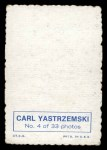 1969 Topps Deckle Edge #4  Carl Yastrzemski     Back Thumbnail