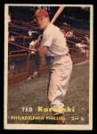 1957 Topps #27  Ted Kazanski  Front Thumbnail