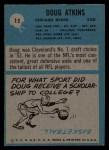 1964 Philadelphia #15  Doug Atkins    Back Thumbnail