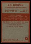 1965 Philadelphia #145  Ed Brown   Back Thumbnail