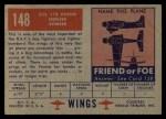 1952 Topps Wings #148   DH 112 Venom Back Thumbnail